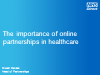 The Importance of Online Partnerships in Healthcare