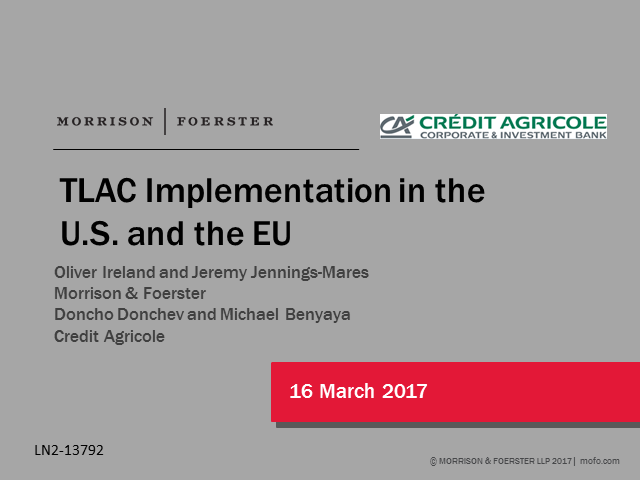 TLAC Implementation in the US and the EU