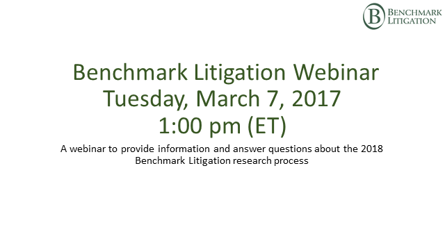 Benchmark Litigation 2018 - Your Research Questions Answered