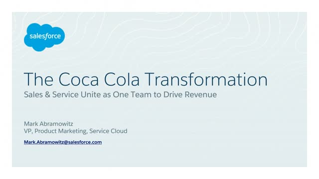 The Coca Cola Transformation: Sales & Service Unite as One Team to Drive Revenue