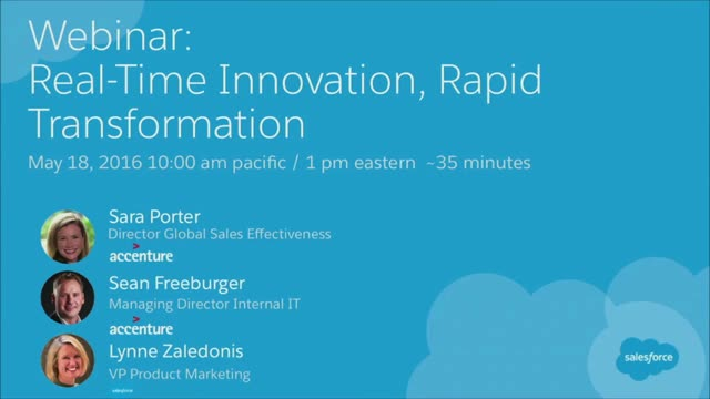 Real-Time Innovation, Rapid Transformation
