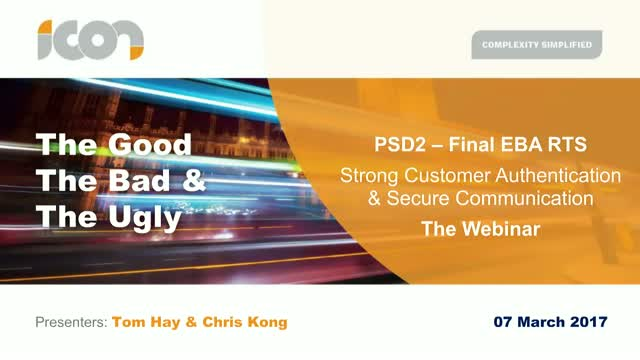 Final PSD2 RTS on SCA and Secure Communication: What you need to know