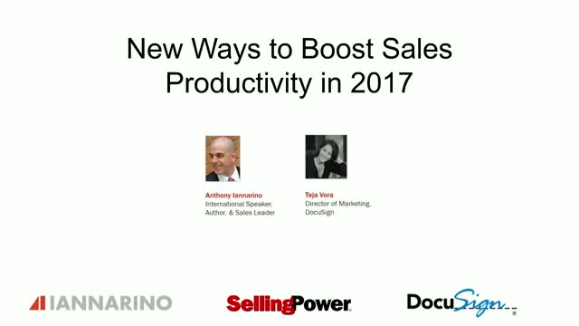 New Ways to Boost Sales Productivity in 2017 [Panel Discussion]