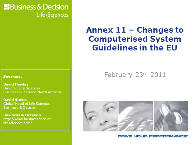Annex 11 - Changes to Computerised System Guidelines in the EU
