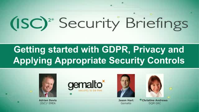 Getting started with GDPR, Privacy and Applying Appropriate Security Controls