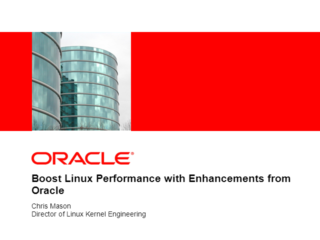 Boost Linux Performance with Enhancements from Oracle