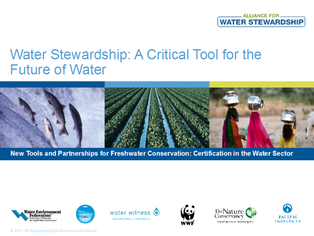 Introducing the Alliance for Water Stewardship