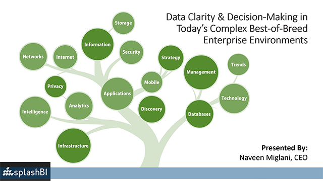 Data Clarity - Decision Making in Today's Complex B-of-B Enterprise Environments