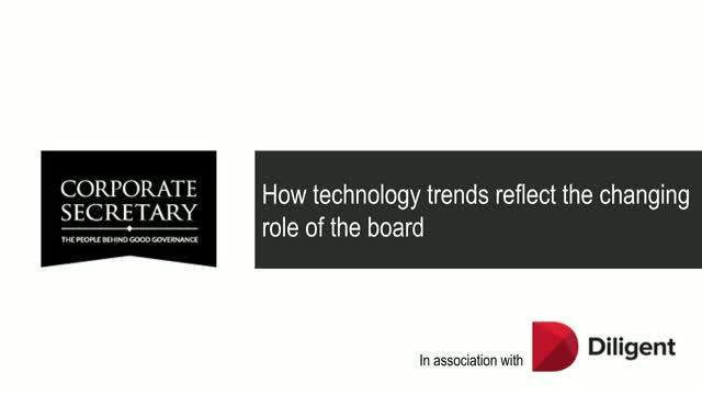 How technology trends reflect the changing role of the board