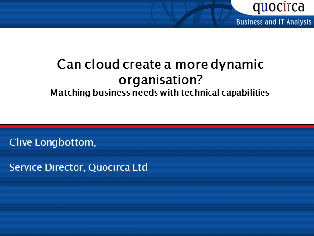 Can Cloud Create a More Dynamic Organization?