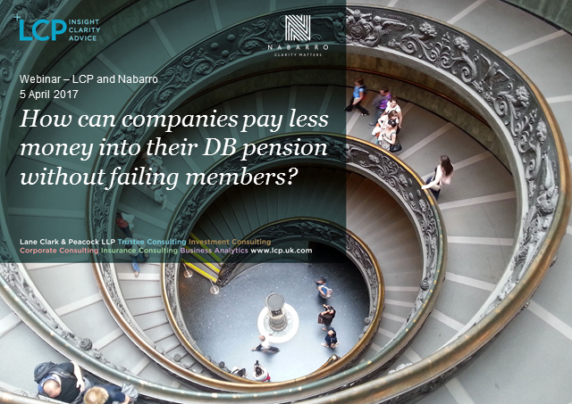 How can companies pay less into their DB pension fund without failing members?