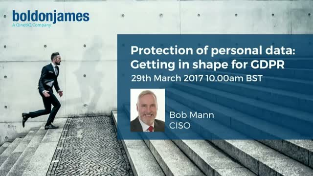 Protection Of Personal Data – Getting In Shape For GDPR