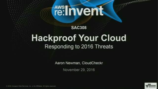 Hackproof Your Cloud: Responding to 2016 Threats