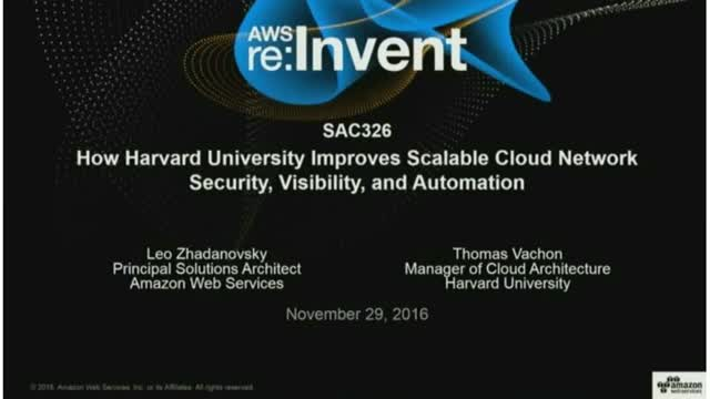 How Harvard Improves Scalable Cloud Network Security