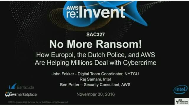 No Ransomware: How Europol, Dutch Police & AWS Deal with Cybercrime