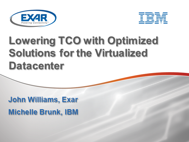 Lower TCO with Optimized Solutions for Virtualized Data Centers