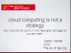 Cloud Computing Is Not a Strategy