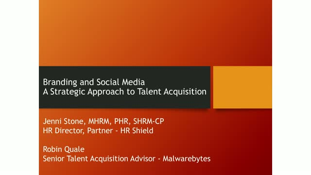 Branding and Social Media-A Strategic Approach to Talent Acquisition