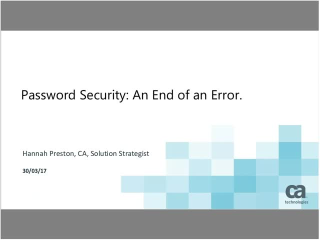 Password Security: An End of an Error. Hosted by PYMNTS.com