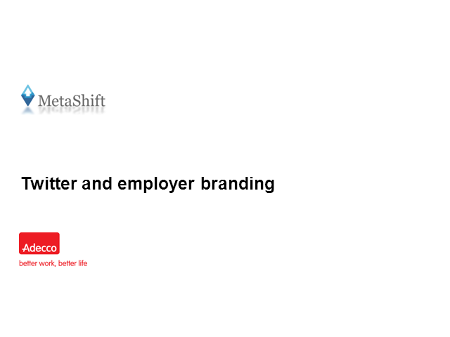 Twitter and employer branding