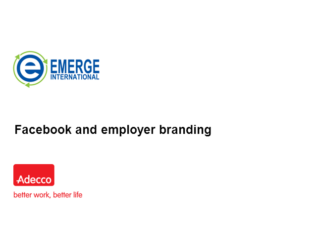 Facebook and employer branding