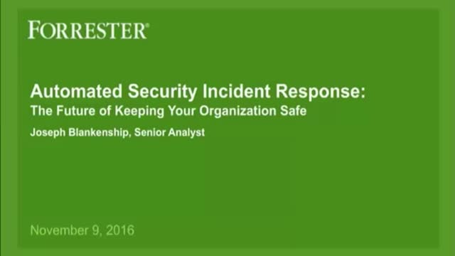 The Future of Security Incident Response