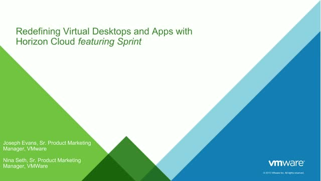 Redefining Virtual Desktops and Apps with Horizon Cloud