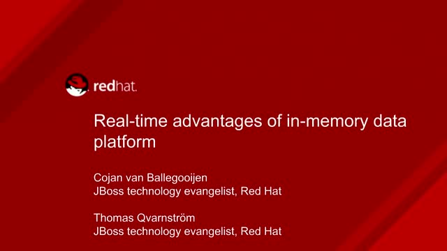 Real-Time Advantages of an In-Memory Data Platform