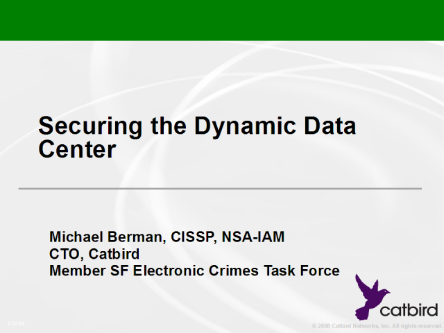 Securing the Dynamic Data Center