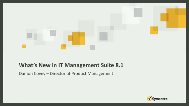 What's New in Symantec IT Management Suite 8.1?
