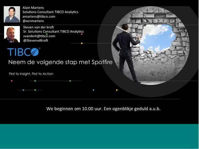 Take the next step with TIBCO Spotfire - Dutch