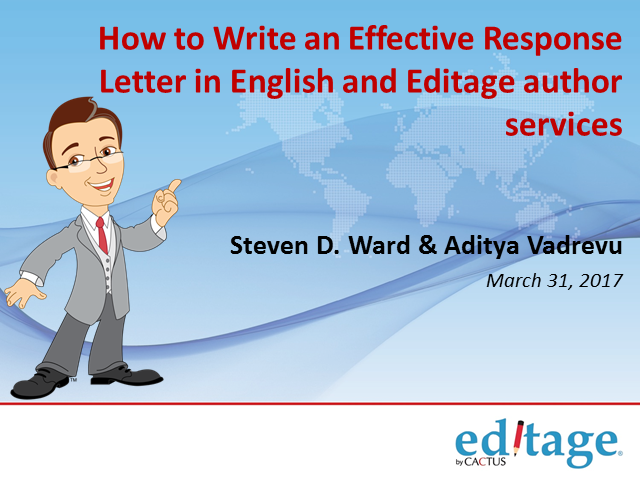 How to Write an Effective Response Letter in English and Editage author services