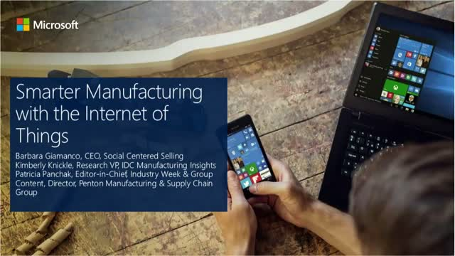 Smarter Manufacturing with the Internet of Things
