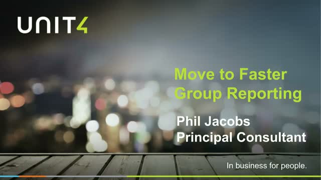 Move to faster group reporting