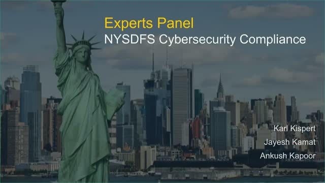 Experts Panel - Compliance with New-York State Cybersecurity Regulations