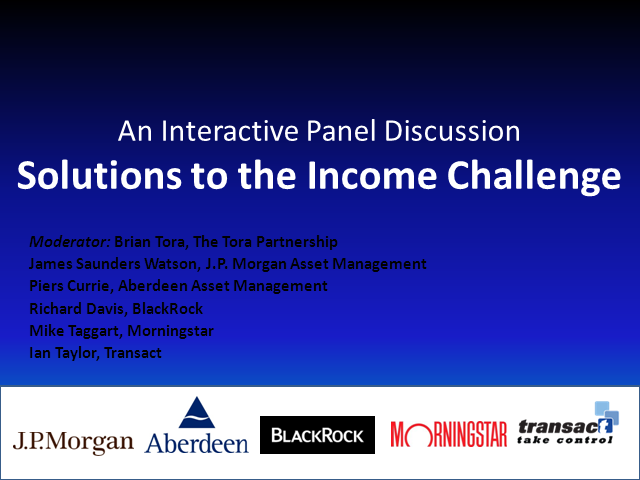 Solutions to the Income Challenge