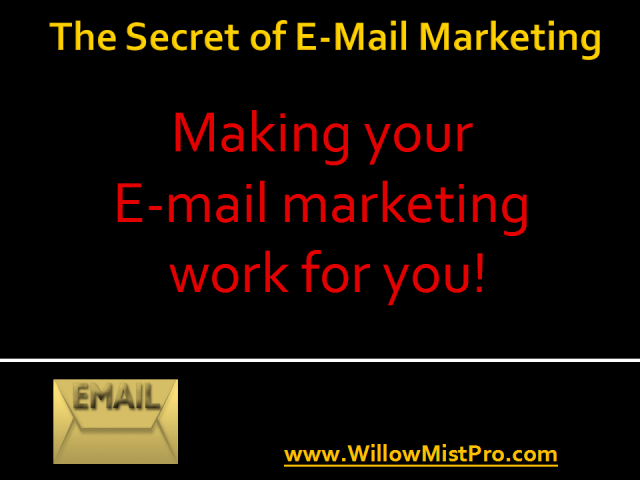 The Secrets of E-Mail Marketing: Marketing Yourself with E-mail