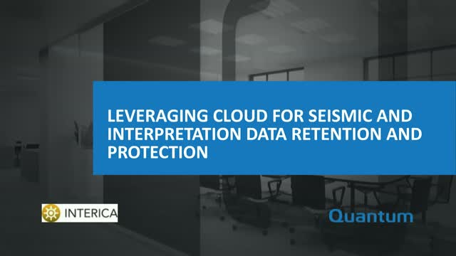Leveraging Cloud for Seismic and Interpretation Data Retention and Protection