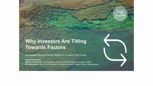 Why Investors are Tilting Towards Factors