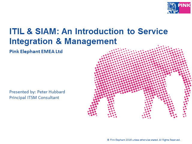 ITIL & SIAM: An Introduction to Service Integration & Management