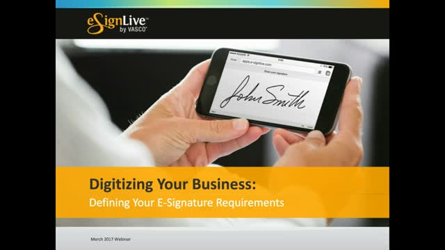 Digitize Your Business: Defining Your E-Signature Requirements with Forrester