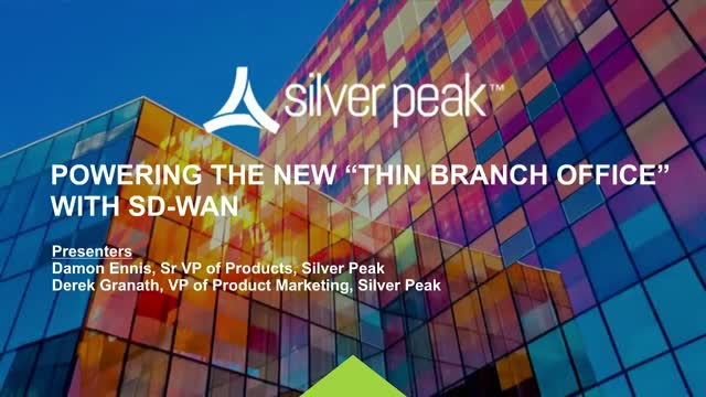 """Powering the New """"Thin Branch Office"""" with SD-WAN (AMER)"""