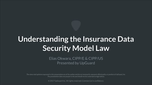 Getting Covered: Understanding the Insurance Data Security Model Law