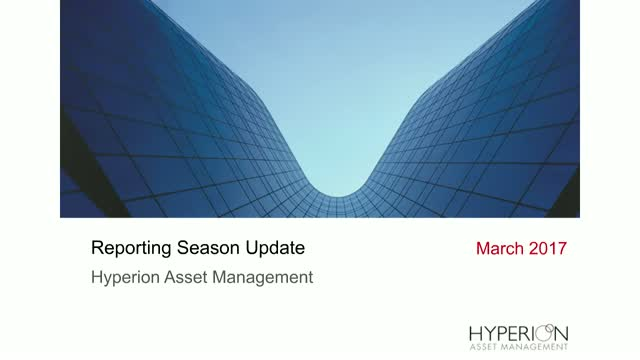 Hyperion Post Reporting Season Update