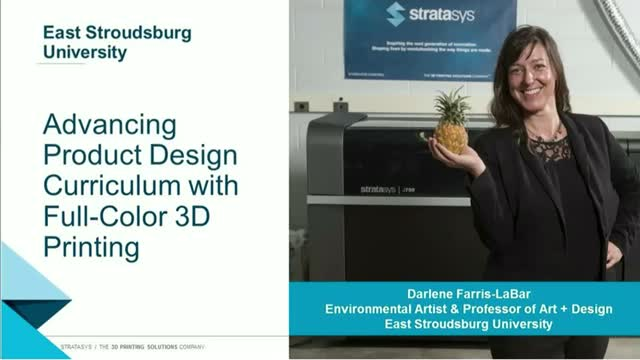 Designing & 3D Printing in Education Using the Full Color Stratasys J750