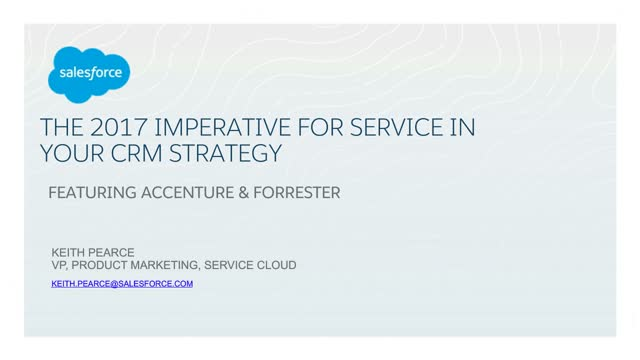 The 2017 Imperative For Service In Your CRM Strategy