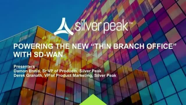 """Powering the New """"Thin Branch Office"""" with SD-WAN (EMEA)"""