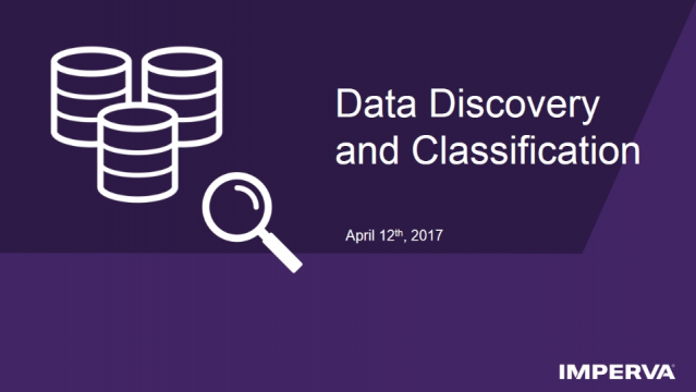 Tech Demo - Data Discovery and Classification for the GDPR