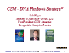 CEM-DNA Playbook Strategy