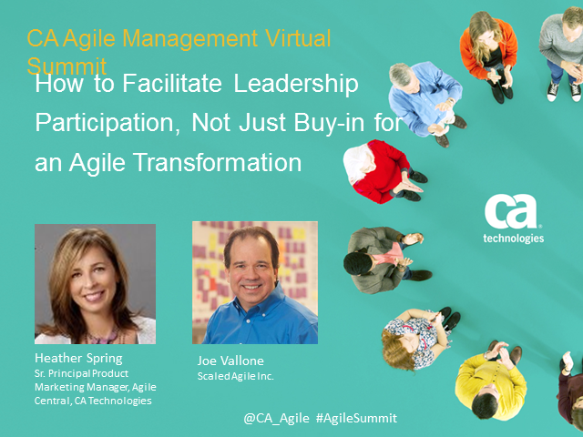 How to facilitate leadership participation for an Agile transformation